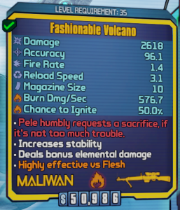 Volcano in Borderlands 2