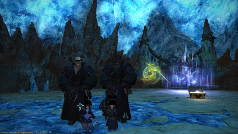 Two Roegadyn and two Lalafell walk into a dungeon...