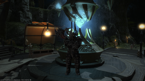 A Roegadyn in the Odin armor.